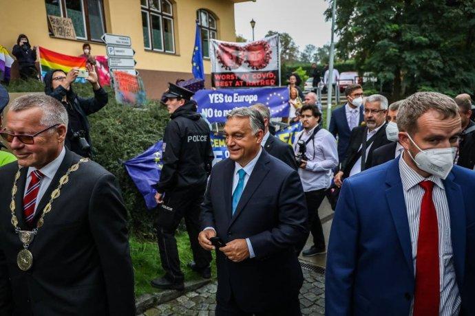 Maďarský premiér Viktor Orbán vÚstí nad Labem. Foto:Gabriel Kuchta, DeníkN