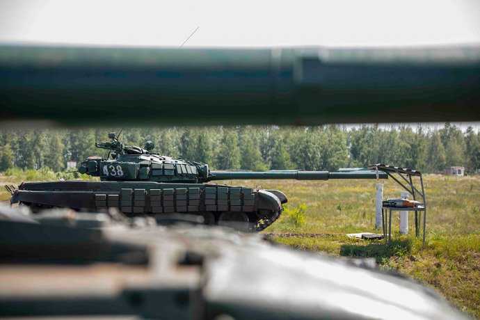 Ruské tanky při přípravě na cvičení Zapad-2021. Foto: Ministerstvo obrany Ruské federace