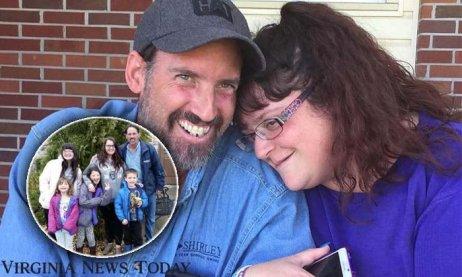 Kevin a Misty Mitchemovi odmítali vakcínu proti covidu. Zemřeli na něj deset dní po sobě. Na snímku se svými pěti dětmi. Foto: Facebook Virginia News