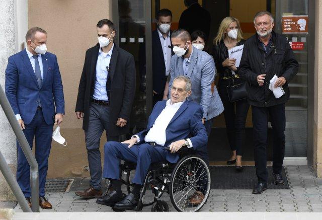 Prezident Miloš Zeman byl vÚVN hospitalizovaný do 22.září. Foto:ČTK