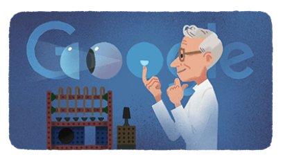 Google na své domovské stránce připomíná výročí narození Otty Wichterleho. Foto:Google